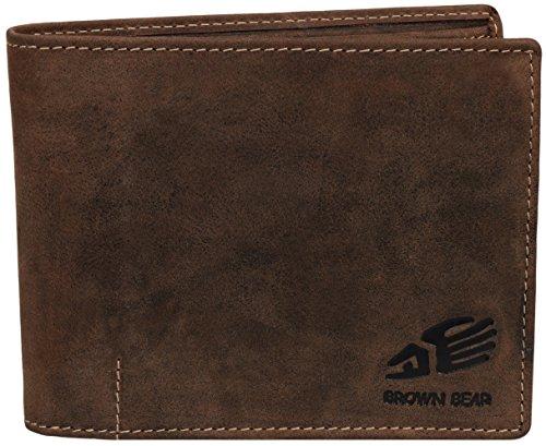 51kaxRKD+nL - Brown Bear Geldbörse Herren Leder braun vintage 1051 br
