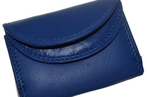 41RaGJGGpVL 500x330 - flevado Kleine handliche Party Disco Geldbörse in Mehreren Farben Lifestyle mit RFID Schutz (blau)